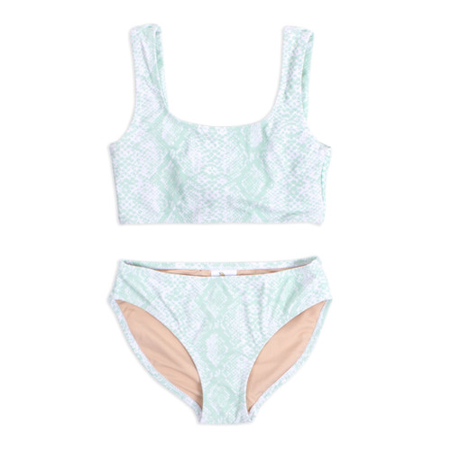 Mint Python 2PC Bikini Swimsuit