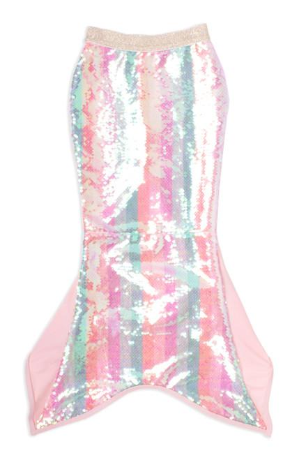 picture of SG05C-182 -full sequin mermaid tail - pastel stripe