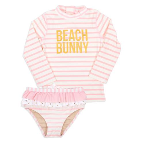 picture of SG02A-175 -rashguard set - beach bunny stripe