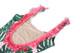 Women's Pink Botanical Fringe Back Scoop Swimsuit  by Shade Critters UPF 50 Alt image 2