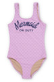 Lilac Mermaid on Duty Scoop Swimsuit (Scales appear when wet!)  by Shade Critters UPF50 Alt Image