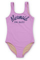 Lilac Mermaid on Duty Scoop Swimsuit (Scales appear when wet!)  by Shade Critters UPF50