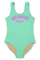 Mint Mermaid on Duty Scoop Swimsuit (Scales appear when wet!)  by Shade Critters UPF50