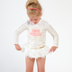 White Swan Princess Rashguard Set  by Shade Critters UPF50