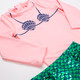 Let's Be Mermaids Rashguard Set (Scales Appear When Wet!)
