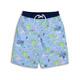 Youth Boys Periwinkle Tiki UPF 50+ Swim Trunks