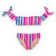 Women's Chasing Rainbows Stripe Bikini Set  by Shade Critters UPF50