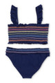 Women's Rainbow Smocked Bikini Set  by Shade Critters UPF50 Alt Image