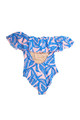 pic of Women's Off the Shoulder One Piece - Blue Palm Reader