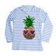 Rashguard - Flip Sequins - Pineapple Blue Pinstripe