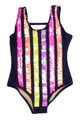 Flip Sequin One Piece - Navy Stripe