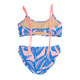 Back View Braided Strap Bikini - Blue Palm Reader