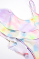 pic of One Piece Ruffle Front – Multi Tie Dye