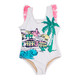One Piece Fringe Back - White Beachscape