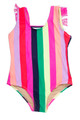 Fringe Back One Piece - Multi Stripe