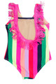pic of Fringe Back One Piece - Multi Stripe