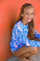 pic of Rashguard w/ Ring - Blue Palm Reader
