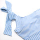 pic of One Piece One shoulder - french blue asymmetrical stripe suit