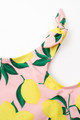 pic of Two piece tankini - tie side yellow/pink  lemon print