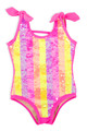 One Piece flip sequin - Rainbow multi-stripe tanksuit