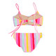 Two Piece Bikini - rainbow stripe with braided straps