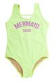 """One Piece tank suit- neon citron """"mermaid squad"""" suit"""