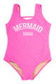 "pic of One Piece tank suit- hot pink ""mermaid squad"" suit"