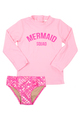Rashguard Set - Mermaid Scale - Hot Pink
