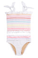 Smocked Tankini - Multi Stripe
