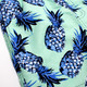 Detail of Youth Boys Mint Pineapple  Stretch Swim Trunks