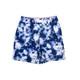 4 Way Stretch Boys Swim Trunks- -Navy Tie Dye