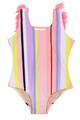 Summer Coral Stripe - Fringe Back Swimsuit