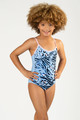 Detail of One piece Magic Sequin - Blue Leopard