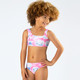Lifestyle of Two Piece Sport Bikini- Cotton Candy Tie Dye