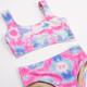 Detail of Two Piece Sport Bikini- Cotton Candy Tie Dye