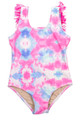 One Piece Fringe Back- Cotton Candy Tie Dye