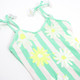 Detail of Striped Mint Daisy Magic Sequin 1PC Swimsuit