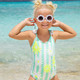 Lifestyle of Striped Mint Daisy Magic Sequin 1PC Swimsuit