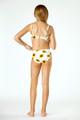 Detail of Two Piece Braided Strap Bikini- SunFlower