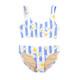 Two Piece Tie Back Bikini- Cabana Striped Daisy