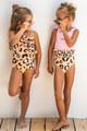 Lifestyle Shot of Leopard Ruffle 1PC Swimsuit
