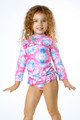 Alt pic of Rashguard Set - Cotton Candy Tie Dye