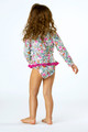 back view Rashguard Set - Ditsy Floral