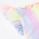 picture of SG01C-172 -tulle sleeve 1pc - sherbert rainbow unicorn