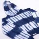 Terry Jogger Hoodie- Navy Tie Dye detail