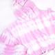 Terry Jogger Hoodie- Pink Tie Dye detail