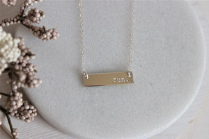 run. bar necklace | gold or silver