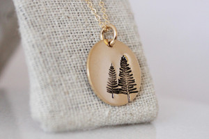 Evergreen • gold or silver