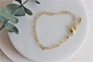link bracelet • 14k gold filled