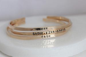 organic cuff bracelet • silver or gold